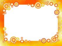 Retro circles border / frame. Red and orange retro circles border / frame Stock Photography