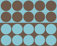 Retro circles collage. Retro turquoise and brown circles design stock illustration