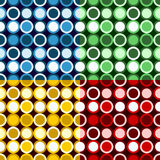 Retro Circles Pattern Royalty Free Stock Photos