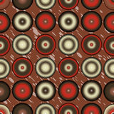 Retro circles pattern colorful abstract background Royalty Free Stock Images