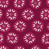 Retro Circles Pattern. A seamless pattern of retro circle shapes on a red background Royalty Free Illustration