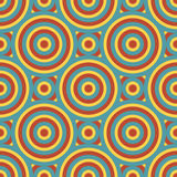 Retro Circles Seamless Pattern Stock Photo