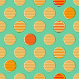 Retro circles seamless pattern Royalty Free Stock Images