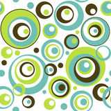 Retro Circles Seamless Wallpaper Pattern. A seamless repeating background pattern of brightly colored retro style circles could be used for textiles wallpaper Stock Image