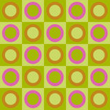 Retro circles and squares collage Stock Photo