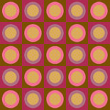 Retro circles and squares collage. Retro fuscia, purple, brown and peach circles and squares collage royalty free illustration