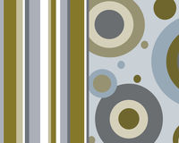 Retro circles and stripes graphic design. Retro blue, brown and tan circles and stripes graphic design royalty free illustration