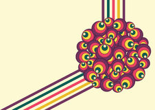 Retro Circles Vector Illustration Royalty Free Stock Images
