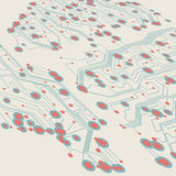 Retro circuit board Royalty Free Stock Images