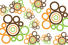 Retro circular design. In brown orange and green Royalty Free Stock Photography