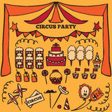 Retro circus party ideas elements Royalty Free Stock Photography