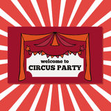 Retro circus party tickets Stock Image