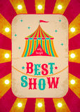 Retro circus poster Stock Images