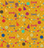 Retro circus seamless vector pattern Stock Images