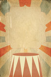 Retro circus style poster template on rhombus background with ri Royalty Free Stock Image