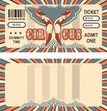 Retro circus ticket Royalty Free Stock Images