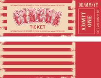 Retro circus ticket Stock Images