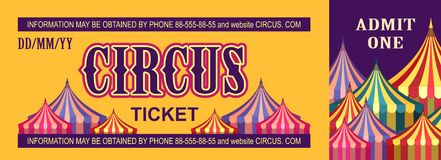 Retro circus ticket Royalty Free Stock Photography