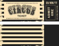 Retro circus ticket Royalty Free Stock Photo