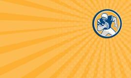Retro cirkel för spring för spelare för amerikansk fotboll QB för affärskort Arkivbilder