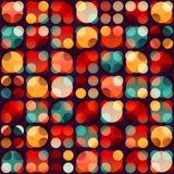Retro cirkel naadloos patroon Stock Afbeelding