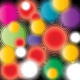 Retro cirkels Stock Afbeeldingen