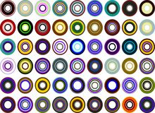 Retro cirkels Stock Foto's