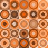 Retro cirkels en kubussen Royalty-vrije Stock Foto