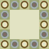 Retro cirkels en vierkantengrens Stock Afbeelding