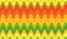 Retro Citrus Waves Royalty Free Stock Photography