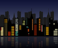 Retro City Skyline Stock Images