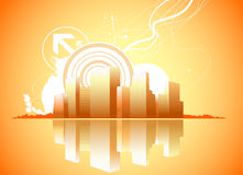 Retro city vector Royalty Free Stock Images
