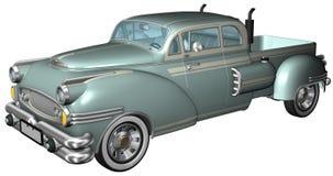 Retro Classic Car Illustration Isolated Stock Photography