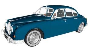 Retro Classic Car Illustration Isolated Stock Images