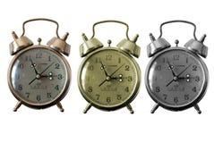 Retro classic clock. Isolated retro clocks in full color , monotone and black and white Stock Photography
