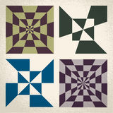 Retro classic geometric linear patterns Stock Photography