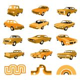 Retro Classic and Muscle Car Vectors Stock Photography