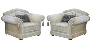 Retro classic vintage luxury chairs isolated over white Stock Photography