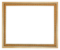 Retro classical gilted wooden picture frame Royalty Free Stock Photos