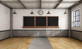 Retro classroom Royalty Free Stock Photography