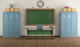 Retro classroom Royalty Free Stock Photos