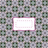 Retro clear label on floral background Royalty Free Stock Photos