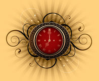 Retro clock Stock Image