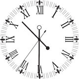 Retro clock with Roman Dial Royalty Free Stock Photos