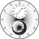 Retro clock with Roman Dial Stock Photos
