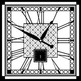 Retro clock with Roman Dial. Vintage clock face with Roman numerals Royalty Free Stock Image