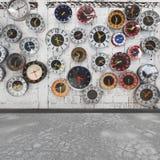 Retro clock wall royalty free stock photos