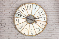 Retro clock on the wall Royalty Free Stock Photos