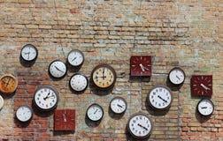 Retro clock wall  Stock Photos
