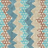 Retro cloth seamless pattern with grunge effect Stock Images